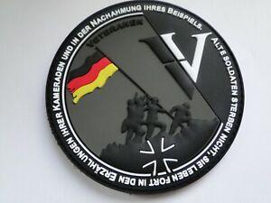 PVC-Aufnäher BW Veteran Alte Soldaten Sterben nicht.Sie leben ca 9 cm mit Klett
