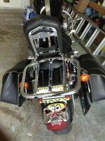 USA Y59R Black Backrest Sissy Bar Luggage Rack 4 Cruiser Chieftain Indian 2014-2015 Black