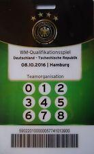 TICKET Pass Teamorganisation 8.10.2016 Deutschland - Tschechien
