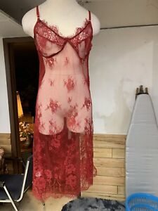Beautiful Red Sexy See Through Gown