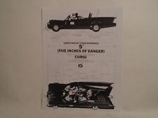 REPRO CORGI 1960'S ORDER FORM FOR CORGI #267 DIECAST BATMOBILE