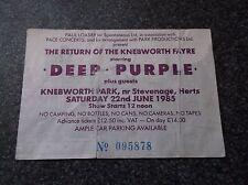 DEEP PURPLE   TICKET  STUB  KNEBWORTH PARK 22nd JUNE 1985