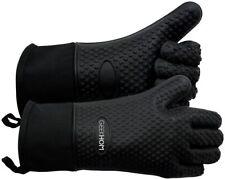 GEEKHOM Grilling Gloves, Heat Resistant Gloves BBQ Kitchen Silicone Oven Mitt...