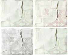 Baby Blanket Soft Cotton Embroidered Baby Quilt Warm Cozy Crib Quilt for Bedding