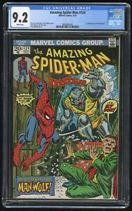Amazing Spider-Man #124 CGC 9.2 White (Marvel 9/1973) 1st appearance of Man-Wolf