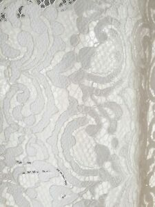 BRAND NEW Beautiful ivory colour lace fabric 3 mtrs, wedding dress or prom