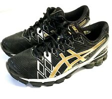 NEW RARE MEN'S ASICS GEL-KINSEI 5 SIZE 9 RUNNING SHOES Black Silver & Gold