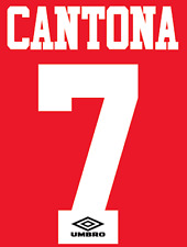 Manchester United CANTONA Nameset maglia calcio Football Numero Lettera di calore casa
