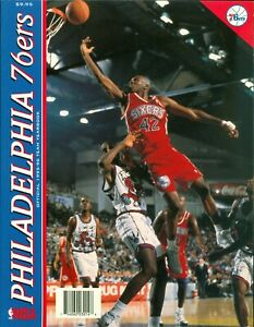 1995-96 Philadelphia 76ers Official Team Yearbook Jerry Stackhouse on Cover