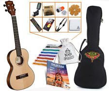 Kala Solid Spruce Tenor Travel Ukulele Ultimate Bundle