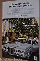 1970 Pontiac advertisement page, Pontiac Bonneville 2-door hardtop