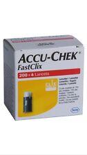 ACCU CHEK FASTCLIX LANCETTE 200 + 4 Nuovo Scatola per Glicemia Test 2/2019