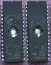 2 Stück EPROM M27C1001-10F1 von ST, DIP, 100ns, 128k Byte = 1Mbit