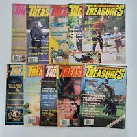 Lot of 10 Year 1990 Western & Eastern Treasures Magazine Issues Metal Detecting
