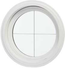 Round Cross Design Glass Circle Window Frame Circular Picture Insulated Windows
