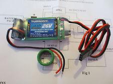 Turnigy SBEC BEC UBEC 8V-26V 5V+6V 5A Lipo 2S - 8S Empfänger Regler 18g entstört