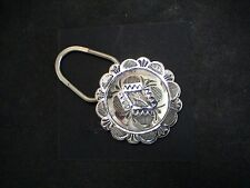 Auth.Native American Indian Navajo Stamped Sterling Key Ring by Blackgoat