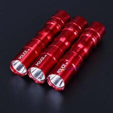 3Pcs 3W Police Waterproof Ultra Bright LED Mini Flashlight Torch Camping Red UU