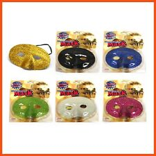 24 x GLITTER MASQUERADE MASKS | Costume Party Fancy Dress Ball Halloween Party