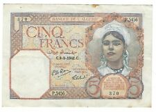 New listing Algeria - 5 Francs 1941