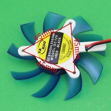 75mm 2pin Sleeve Bearing Blue VGA Video Card Cooling Fan Hole to Hole 45mm
