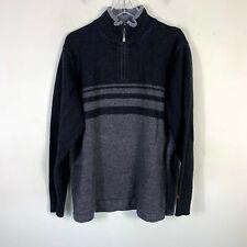 Columbia Pullover 1/4 Zip Jacket Men's Size 2XL Wool Blend Gray Black