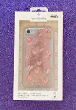 NEW Vera Bradley | Glitter Flurry Case for iPhone 7/8 | Hearts Pink