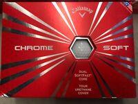 Lot of 3 Callaway Chrome Soft White Golf Balls Dozen (36 Total) New