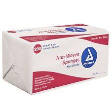 Dynarex Non-Sterile Non Woven Sponge, 4x4 Inch, 200 Count NEW +++ FREE SHIPPING!