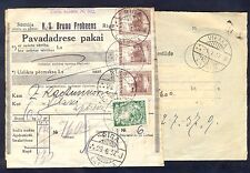 Latvia, 1937, Post parcel adresse from Riga to Vilaka with printed sender adress
