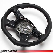 Tuning Abgeflacht Lederlenkrad Audi A1 A6 A7 A8 MULTI 4G0 4H0 ROT 4-Speich