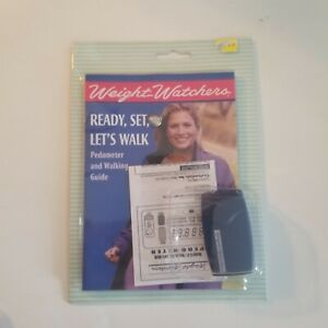 Vintage Weight Watchers Ready, Set, Let's Walk Pedometer & Guide, New