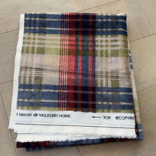 Mulberry Home Ancient Velvet Tartan Fabric Remnant Offcut RRP £170/m!
