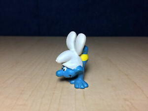 Smurfs 20084 Handstand Smurf Yellow Shorts Vintage Figure PVC Toy Figurine Peyo