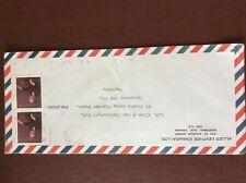 b1u ephemera stamped franked envelope Canada 30 airmail