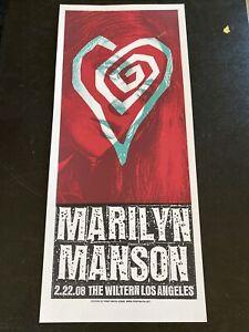 Marilyn Manson Sharon Tate Original Concert Poster Wiltern Los Angeles 2008 /100