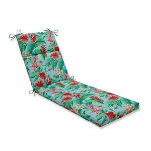 Pillow Perfect Outdoor | Indoor Tropical Paradise Chaise Lounge Cushion 72.5 ...