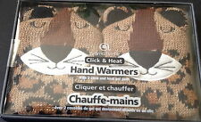 Knit Cheetah Reuseable Pocket Sized Hand Warmers 1 Pair