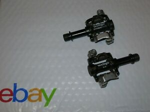 WELLGO M-18 Mountain Bike Pedals MTB XC Clipless Steel Axles - Shimano SPD ready
