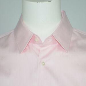 Mint HUGO BOSS Enzo Regular Fit 100% Cotton Pink Dress Shirt Sz 17 34/35