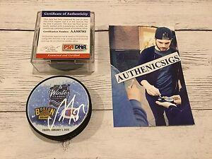 Alex Galchenyuk Signed 2016 Winter Classic Canadiens Hockey Puck PSA DNA COA b