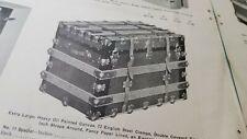 Vintage 1910s Suitcase Steamer Trunk Luggage Bag Catalog Teavel Aviation Case