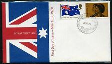 Australia 1970 Royal Visit pair - Apo Unaddressed Fdc