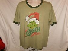 Dr. Suess How The Grinch Stole Christmas THUNDER CREEK Distressed T Shirt L