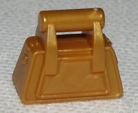 Lego New Pearl Gold Friends Accessory Handbag with Zipper Piece