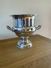 More details for vintage silver plated on copper champagne ice bucket by cavalier.