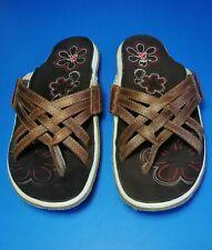 Cushe Women's Manuka Plait Brown Leather Thong Sandals Size 8 US