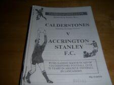 CALDERSTONES V ACCRINGTON STANLEY 90/91 FRIENDLY
