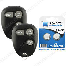 2 Replacement for Chevy 1996-2000 Tahoe 1999-2004 Tracker Remote Car Key Fob 3b