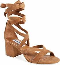 Steve Madden Isabel Women's Tan Suede Strappy Sandals US8